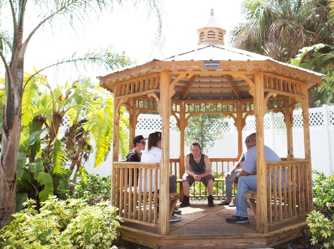 Counseling in a Gazebo